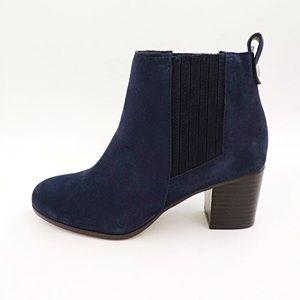 New INC Blue Suede Boots FAINN Chelsea 6.5 Chic